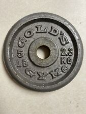 One 5 Lb Golds Gym Plate Weight Pancake Weight 1 In Hole - 5 Lb Total -
