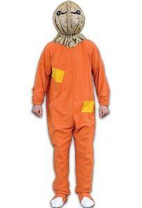 Trick or Treat Sam Burlap Jack-o-Lantern Halloween Costume One Size Mens TTLE101