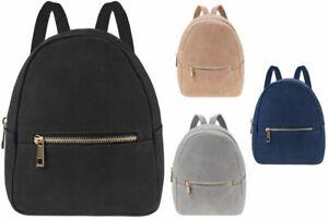 Ladies Mini Backpack School/Travel Suede Shoulder Bag Rucksack Girls School Bag