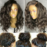360 Lace Frontal Wig 100% Indian Remy Human Hair Natural Curly Wavy Full Wigs sm