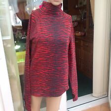 KENZO X H&M 2016 Collection  Wool Polo Neck Jumper in Red size 14
