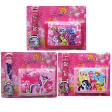 MY LITTLE PONY TOY - KID CHILDREN BOY ACCESSORIES WATCH & WALLET BAG SET
