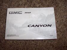 2010 GMC Canyon Owner Operator Manual Work Truck SLE SLT 2.9L 3.7L 5.3L V8 5Cyl