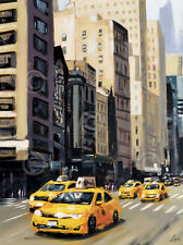 New York Taxi 1 by Robert Seguin Art Print NYC Cityscape City Poster 26x34