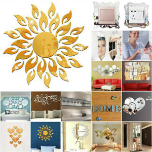 3D Mirror Wall Sticker Removable Decal DIY Stickers Home Art Modern Home Decor