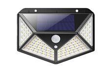Applique da esterno con pannello solare 100 led sensore movimento crepuscolare