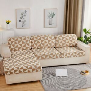 1/2/3 Seater Elastic Sofa Slipcover Covers Couch Settee Protector Geometric