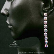Ohrhänger mit 9 Swarovski Kristallen Farbe: Aurora Borealis, Nordlicht