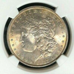 1887 Morgan Silver Dollar Philadelphia Mint MS64 NGC Cert#1545584-006