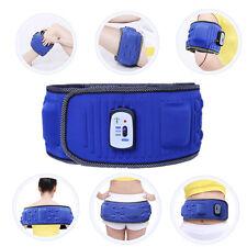 Blue Vibro Slimming Shape Toning Vibration Belt Tummy Body Weight Loss Massager