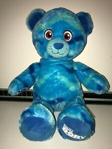 "Disney Build A Bear 17"" Ocean Wave Blue Finding Dory Soft Plush Toy VGC"