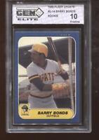Barry Bonds RC 1986 Fleer Update #U-14 Rookie GEM Elite 10 Pristine
