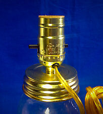 Lamp Kit Quart Regular Mouth Size Canning Jar Top Adapter Attachment Electric