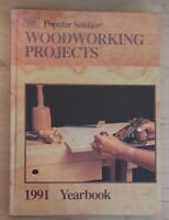 Vintage Hardback Popular Science Woodworking Projects 1991 Yearbook Meredith Co.