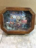 Vintage Coca Cola Garage Clock - With Wood Frame And Glass Front Martin's Garage
