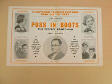 Harry Gordon Puss In Boots Glasgow Alhambra Theatre Pantomime Flyer 1945