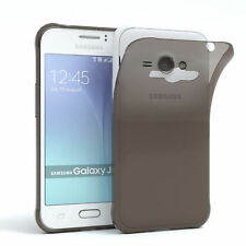Ultra Slim Cover für Galaxy J1 Ace Case Silikon Hülle Transparent Anthrazit