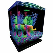Tetra GloFish Mini Aquarium Fish Tank With LED Light Kit 1.5-Gallon New