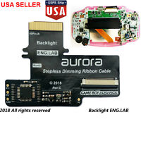GBA LCD Backlight Kit Backlit Screen Cable 40 Pin For GBA Gameboy SP AGS-101 USA