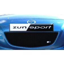Zunsport Black front upper stainless mesh grille insert Mazda RX-8