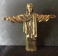 RARE CHRIST REDEMPTEUR en laiton miniature amulette SACRE RIO DE JANEIRO B222