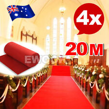 4X Red Carpet Runner Hollywood Awards Night Casino Wedding Party Decoration 5*1m