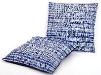 "Indian Tie Dye Blue Ikat PAIR Cotton Kantha Pillow Cushion Cover Sofa Throw 16"""