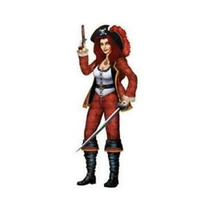 Jointed Bonny Buccaneer Pirate Birthday Halloween Party Wall Prop Decoration
