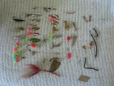 Vintage Lot Of 20 Assorted Spinners, Fishing Lures & Other Fishing Stuff