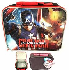 "Marvel® Captain America: Civil War  9.5x4x7.5""H Insulated LUNCH BAG - NWT"