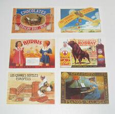 Lot de 6 Carte Postale Reproduction Affiche Publicitaire Ancienne Pub