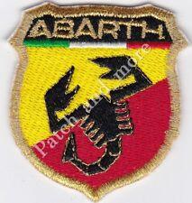 [Patch] ABARTH LOGO racing motor tuning auto cm 5,5 x 6 toppa ricamo v.oro -1063