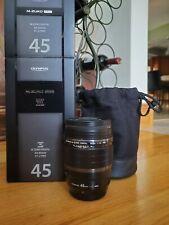 Olympus M.Zuiko Digital ED 45mm F/1.2 Pro Lens w/ UV haze filter