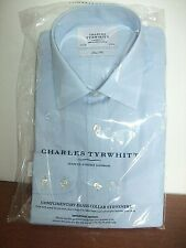 CHARLES TYRWHITT BNWT  COTTON SKY BLUE SHIRT SLIM FIT 15.5 SEE ALSO A YELLOW CT
