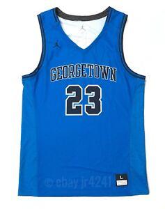 Nike Jordan Georgetown Team Flight Basketball Game Jersey Men's L Blue 865838