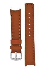 18W Hirsch MEDICI LEONARDO L Calf Leather CURVED Watch Strap in GOLD BROWN