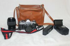 New ListingCanon Ae-1 35mm Slr Film Camera W/52mm & f=70-210mm Lenses+ accessories