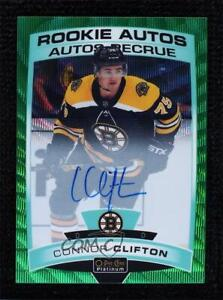 2019-20 O-Pee-Chee Platinum Autos Emerald Surge 6/10 Connor Clifton Rookie Auto