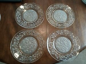 "Set of 8 Princess House Fantasia 8"" Luncheon Salad Plates  #437 USA"