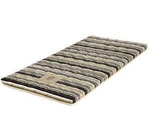 Thai Roll Mattress, Spare Bed, Brown & Green Tones Stripes Pattern, 198cm x 92cm