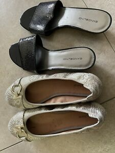 Size 11 Womens Slip On Shoes Bandolino Diana Ferrari Worn Once Bundle Sandals