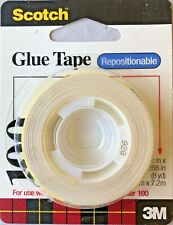 Scotch Repositionable Adhesive Tape for use with Glue Tape Dispenser #100  (6)