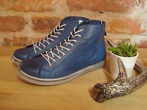 Andrea Conti Sneaker jeans blau weiß Leder Damen Gr. 37 38 39 40 41