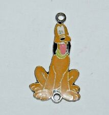 "CUTE Vintage PLUTO Disney 1 1/4"" Necklace Charm VHTF Metal & Enamel RARE"