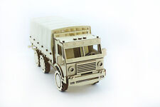 Mechanical wooden 3D puzzle - Military truck