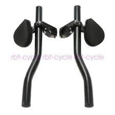 Road Bike Cycling Tt Bar Triathlon Handlebar Arm Rest Bar Clip-on Aero Bar Black