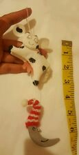 Cow Over the Moon Christmas Holiday Teee Ornament • Pre-owned • Nice Condition