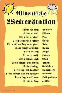 3 Sorten Wetterstein Gartendeko Wettertafel Humor- Wetterstation