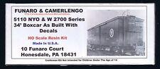LMH Funaro F&C 5110 NEW YORK ONTARIO WESTERN 34' Boxcar NYO&W OW Old 2700 Series