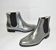 New Aquatalia 'Yulia' Weatherproof Chelsea Boot Anthracite Leather Size 6.5 $450